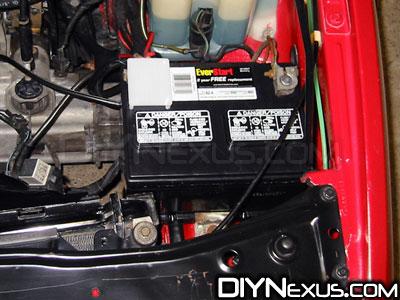 VW MK2 battery terminal removal