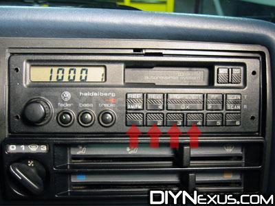 Entering radio code