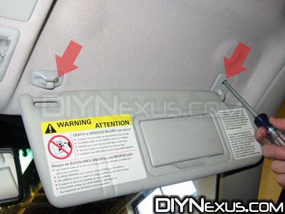 MK3 visor screws