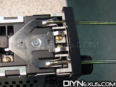 VW MK2 radio tool detail