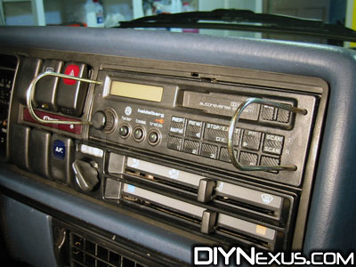 VW MK2 radio tools inserted